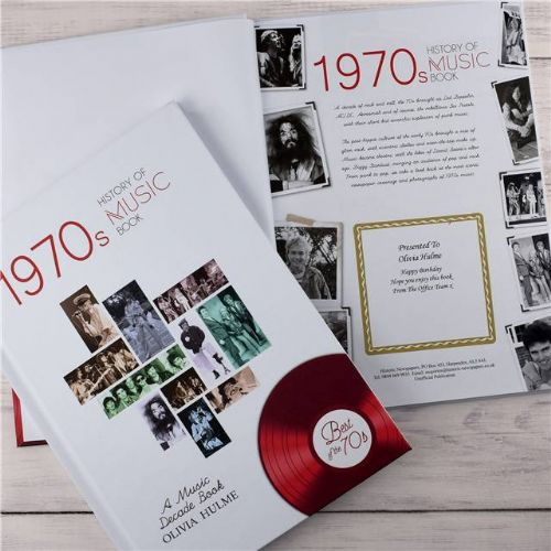 Personalised Music Decade Book